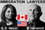 Saba Naqvi, JD California Attorney & BC Lawyer handles USA & Canada immigration applications for business immigrants and Bruce Harwood, MA LLB experienced Canada business immigration services lawyer - click for more info