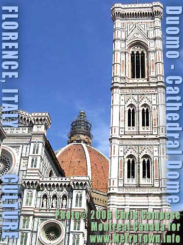 See Florence Art History in its wonderful  DOMOs or Cathedrals in English