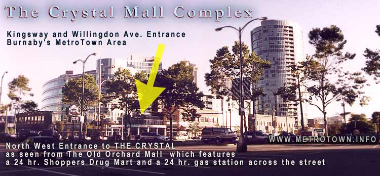 The CRYSTAL mall Kingsway-Willingdon Ave  Entrance - in Metrotown